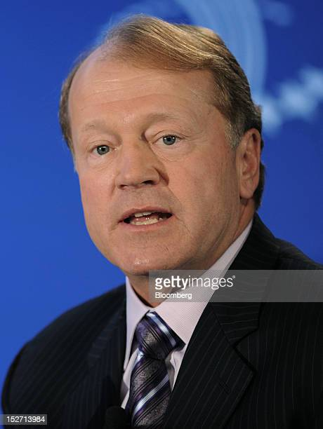 John Chambers chairman and chief executive officer of Cisco Systems Corp speaks at the annual meeting of the Clinton Global Initiative in New York US...