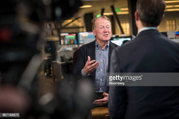 John Chambers chief executive officer of JC2 Ventures LLC speaks during a Bloomberg Technology interview in San Francisco California US on Tuesday...