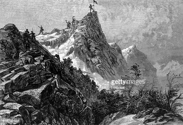 John Charles Fremont and his expedition crossed the Rocky Mountains in 1842 One of its peaks is named after Fremont