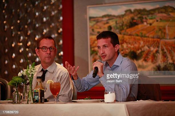 John Cheetham and Ted Allen field questions during the Pure Leaf Science of Pairings lunch at the FOOD WINE Classic on June 15 2013 in Aspen Colorado