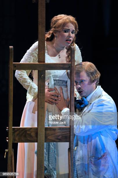 John Chest as Pelleas and Christina Gansch as Melisande in Glyndebourne's production of Claude Debussy's Pelleas et Melisande directed by Stefan...
