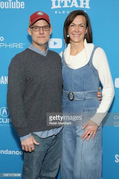 """John Chester and Molly Chester attend the The Biggest Little Farm"""" Premiere during the 2019 Sundance Film Festival at The Marc Theatre on January 29,..."""