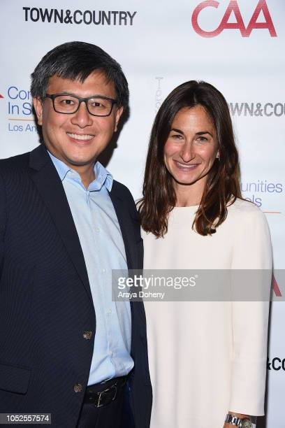 John Chiang and Deborah Marcus attend Communities In Schools LA 'Lunch With a Leader' on October 19 2018 in West Hollywood California