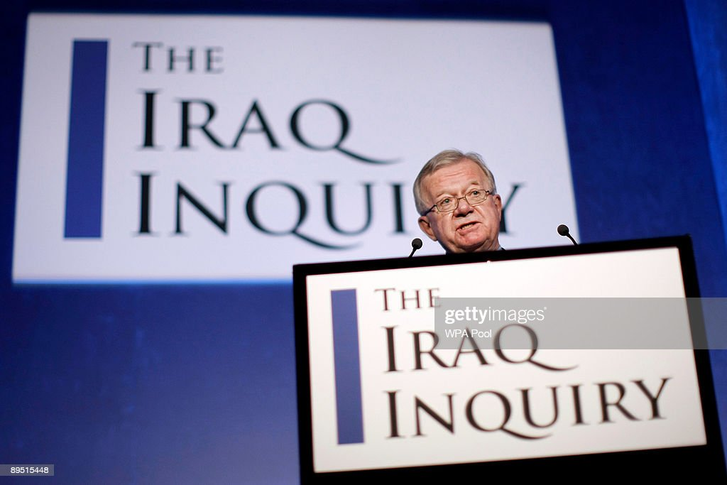 John Chilcot, chairman of the Iraq Inquiry, holds a news conference to outline the terms of reference for the inquiry and explain the panel's approach to its work during a news conference to launch it at the QEII conference centre on July 30, 2009 in London. The head of a British inquiry into the Iraq war said Thursday he will call former Prime Minister Tony Blair to testify about the run-up to the conflict, but acknowledged it is unlikely that senior Bush administration officials would give evidence.