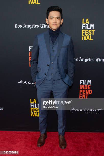 John Cho arrives at the 2018 LA Film Festival Gala Screening of 'The Oath' at ArcLight Hollywood on September 25 2018 in Hollywood California