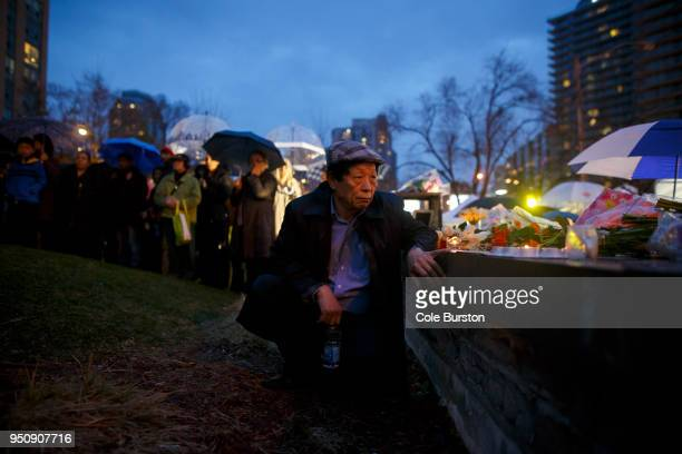 John Cho attends a vigil for the victims of the mass killing on April 24 2018 in Toronto Canada A suspect identified by police as Alek Minassian is...