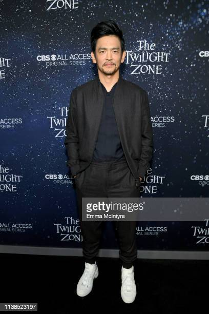 John Cho attends CBS All Access new series The Twilight Zone premiere at the Harmony Gold Preview House and Theater on March 26 2019 in Hollywood...
