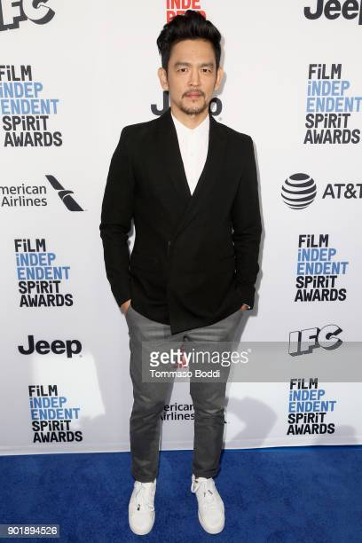John Cho attends the Film Independent Spirit Awards Nominee Brunch at BOA Steakhouse on January 6 2018 in West Hollywood California