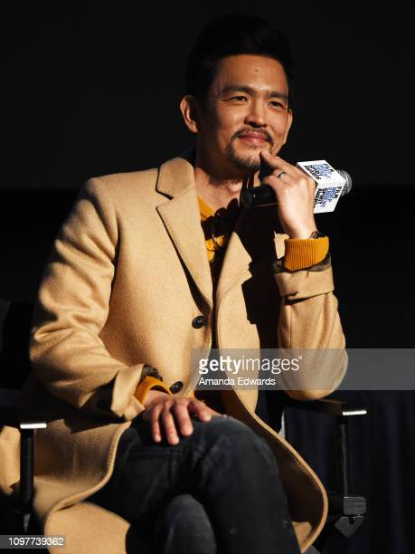 John Cho attends the Film Independent Spirit Awards Screening Series screening of Searching at ArcLight Culver City on January 21 2019 in Culver City...