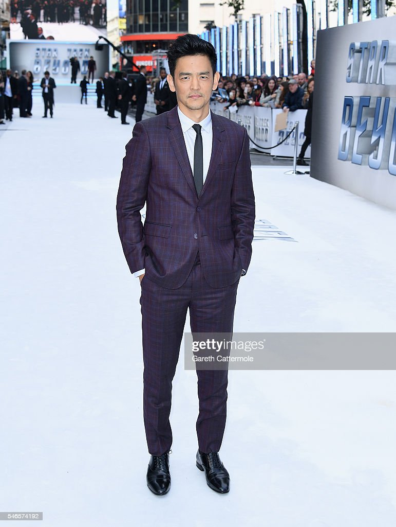 John Cho attends the UK Premiere of Paramount Pictures 'Star Trek Beyond' at the Empire Leicester Square on July 12, 2016 in London, England.