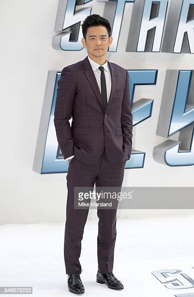 """John Cho attends the UK Premiere of """"Star Trek Beyond"""" at Empire Leicester Square on July 12, 2016 in London, England."""