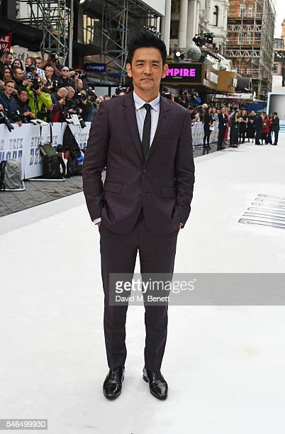 "John Cho attends the UK premiere of ""Star Trek Beyond"" on July 12, 2016 in London, United Kingdom."