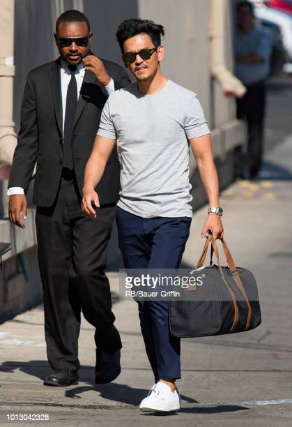 John Cho is seen at 'Jimmy Kimmel Live' on August 07 2018 in Los Angeles California