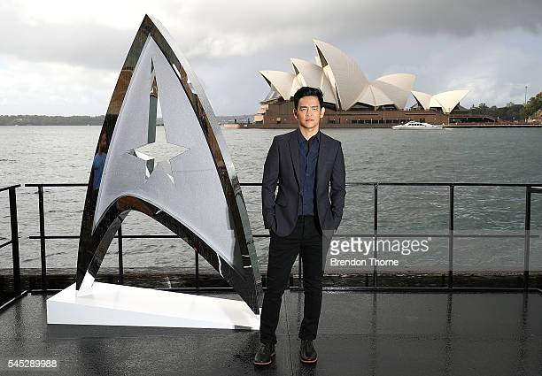 John Cho poses during a photo call for Star Trek Beyond on July 7 2016 in Sydney Australia