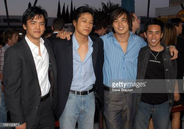 John Cho Sung Kang Roger Fan and Parry Shen during Better Luck Tomorrow Los Angeles Premiere at Landmark Cecchi Gori Fine Arts Theater in Beverly...