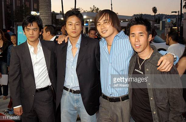 John Cho Sung Kang Roger Fan and Parry Shen during MTV Films Premiere Better Luck Tomorrow Arrivals at Landmark Theater in Los Angeles California...