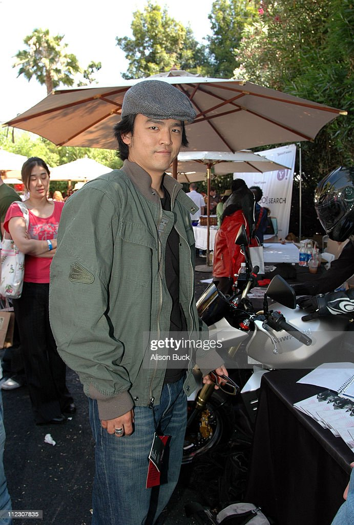 John Cho wearing Hein Gericke jacket during KARI FEINSTEIN PR Presents STYLE LOUNGE Benefiting Project Angel Food - Day 2 in Los Angeles, California, United States.