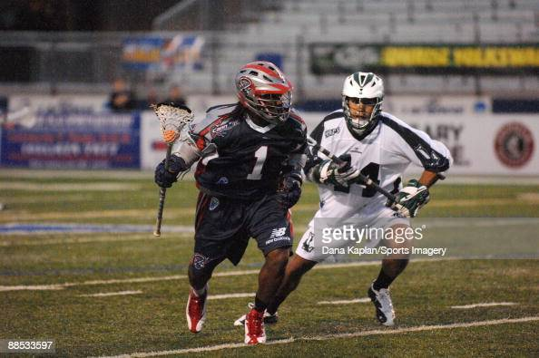 John Christmas Lacrosse.John Christmas Of The Boston Cannons Controls The Ball As