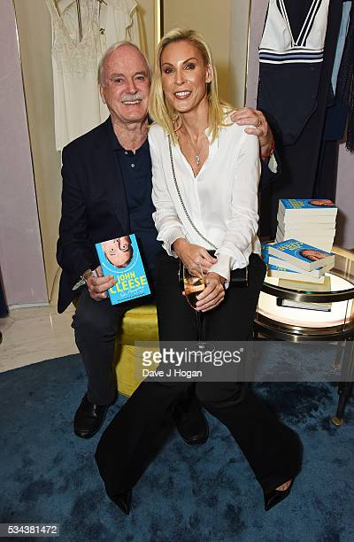 John Cleese and Jennifer Wade attend a fundraising party hosted by John Cleese and Jennifer Wade in aid of the Born Free Foundation at La Perla on...