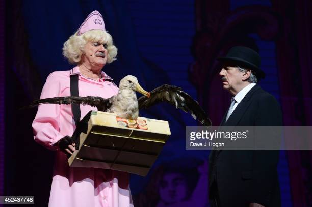 John Cleese and Terry Jones perform on the closing night of 'Monty Python Live ' at The O2 Arena on July 20 2014 in London England