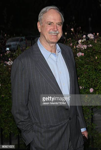 John Cleese arrives to the champagne launch of BritWeek at the Consul General's Official Residence in Los Angeles, California, on April 24, 2008.?