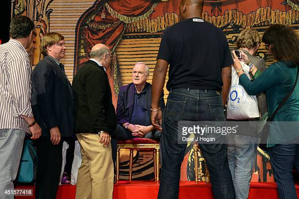 John Cleese attends a QA on the opening night of Monty Python Live on July 1 2014 in London England