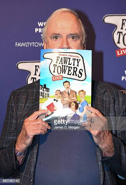 John Cleese has fun on the red carpet before the opening night at The Rosyln Packer Theatre on August 20 2016 in Sydney Australia The World Premiere...