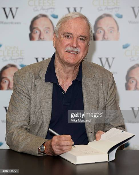 John Cleese meets fans and signs copies of his book 'So Anyway' at Waterstone's Piccadilly on October 9 2014 in London England