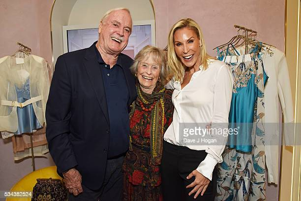 John Cleese Virginia McKenna and Jennifer Wade attend a fundraising party hosted by John Cleese and Jennifer Wade in aid of the Born Free Foundation...