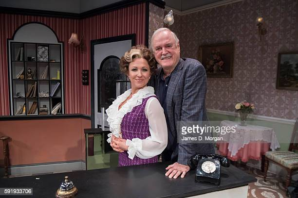 John Cleese who wrote the original BBC comedy series of Fawlty Towers with actor Blazey Best who plays Sybil during a media call at the Rosyln Packer...