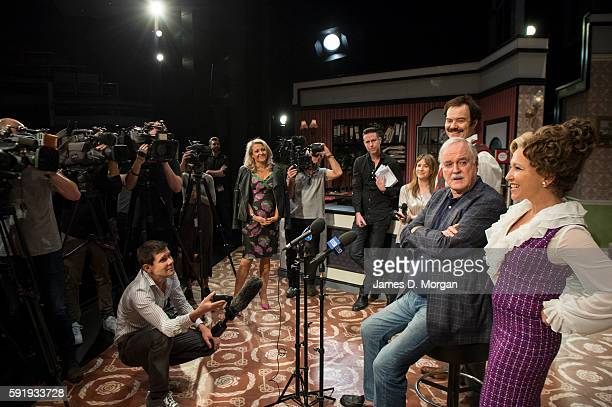 John Cleese who wrote the original BBC comedy series of Fawlty Towers during a media call at the Rosyln Packer Theatre Walsh Bay on August 19 2016 in...
