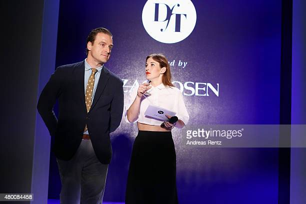 John Cloppenburg and Jeannine Michaelsen are seen at a rehearsal ahead of the 'Designer for Tomorrow' by Peek & Cloppenburg and Fashion ID show...