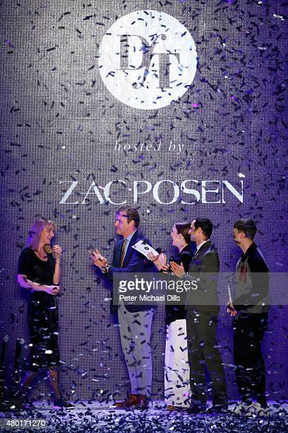 John Cloppenburg, winner Mareike Massing, Jeannine Michaelsen, Zac Posen and Matteo Lamandini pose after the fashion talent award 'Designer for...