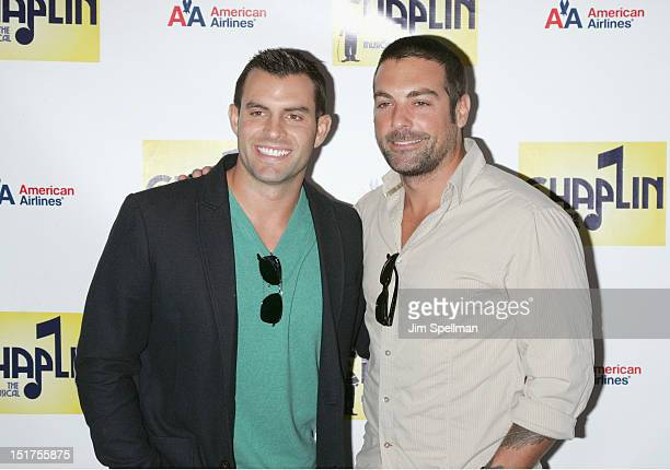 "John Colaneri and Anthony Carrino attend the ""Chaplin"" Broadway opening night at The Ethel Barrymore Theatre on September 10, 2012 in New York City."