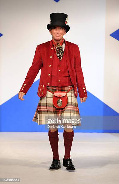 John Colbert walks the runway at the 8th annual Dressed To Kilt Charity Fashion Show at M2 Ultra Lounge on April 5 2010 in New York City