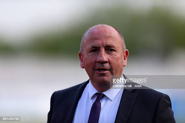John Coleman manager of Accrington Stanley during the Sky Bet League Two Play Off First Leg between AFC Wimbledon and Accrington Stanley at The...