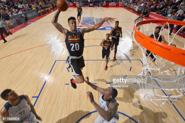 John Collins of the Atlanta Hawks goes to the basket against the New Orleans Pelicans on July 9 2017 at the Cox Pavilion in Las Vegas Nevada NOTE TO...