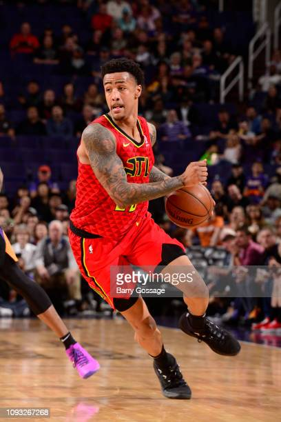 John Collins of the Atlanta Hawks handles the ball against the Phoenix Suns on February 2 2019 at Talking Stick Resort Arena in Phoenix Arizona NOTE...