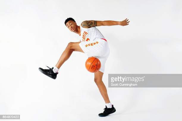 John Collins of the Atlanta Hawks poses for a portrait during the 201718 NBA Media Day on September 25 2017 at Philips Arena in Atlanta Georgia NOTE...