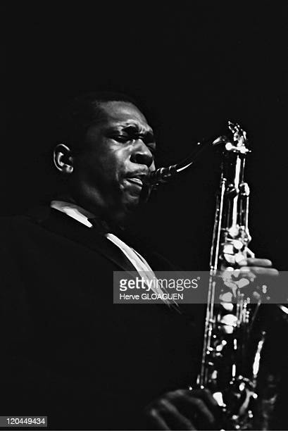 John Coltrane in Paris France in 1960 John Coltrane Jazzman Palais des Sports