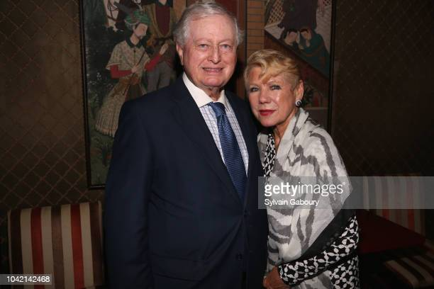 John Connolly and Ingrid Connolly attend David Patrick Columbia And Chris Meigher Toast The QUEST 400 At DOUBLES on September 27 2018 in New York City