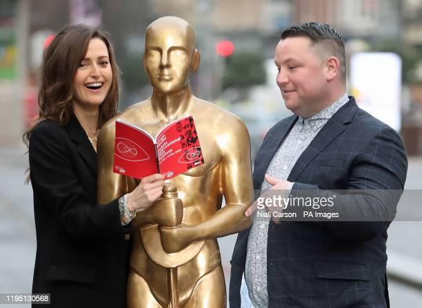 John Connors and Clare Dunne launch the 2020 Virgin Media Dublin International Film Festival programme at St Stephens green in Dublin Connors...