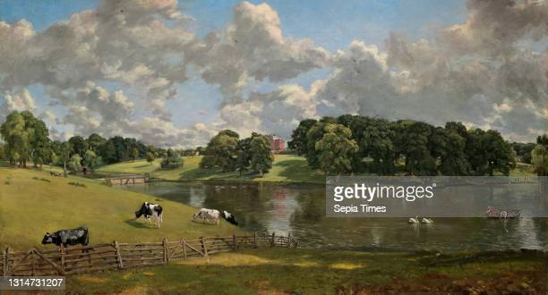 John Constable, , British, 1776 - 1837, Wivenhoe Park, Essex oil on canvas, overall: 56.1 x 101.2 cm , framed: 77.8 x 122.5 x 8.8 cm .