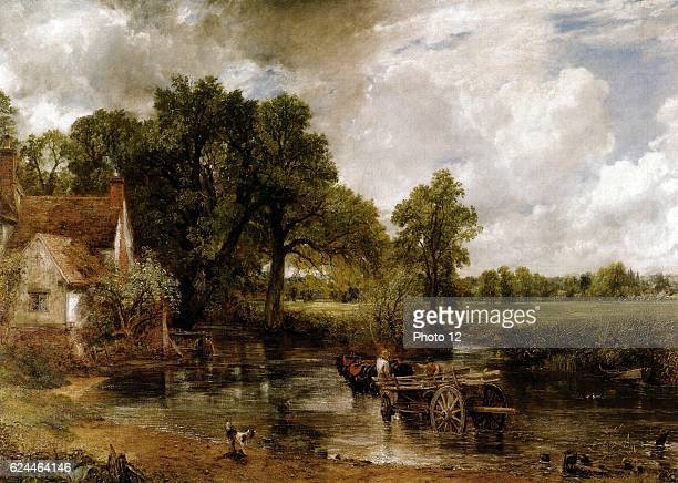 John Constable, Ecole anglaise. The Hay Wain, 1821. Oil on canvas . London, National Gallery.