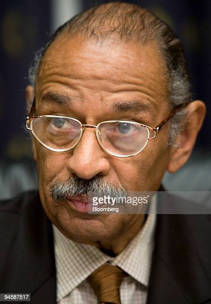 John Conyers Jr chairman of the House Judiciary Commitee listens to testimony during a hearing of the House Judiciary Committee on Capitol Hill...