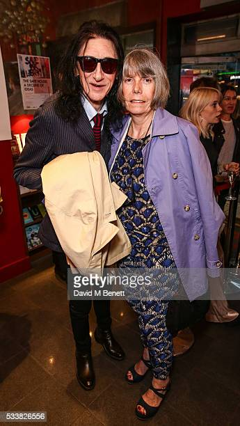 "John Cooper Clarke and Evie Cooper Clarke attend a drink reception celebrating the UK Premiere of ""The Safe House: A Decline Of Ideas"" directed by..."