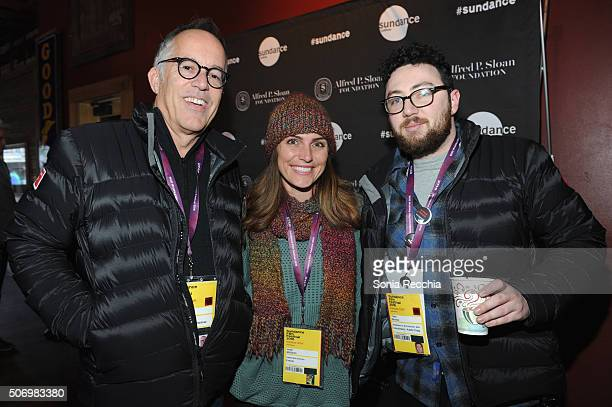 John Cooper Josie McGuinn and Toby Brooks attend the Alfred P Sloan Foundation Reception and Prize Announcement during the 2016 Sundance Film...