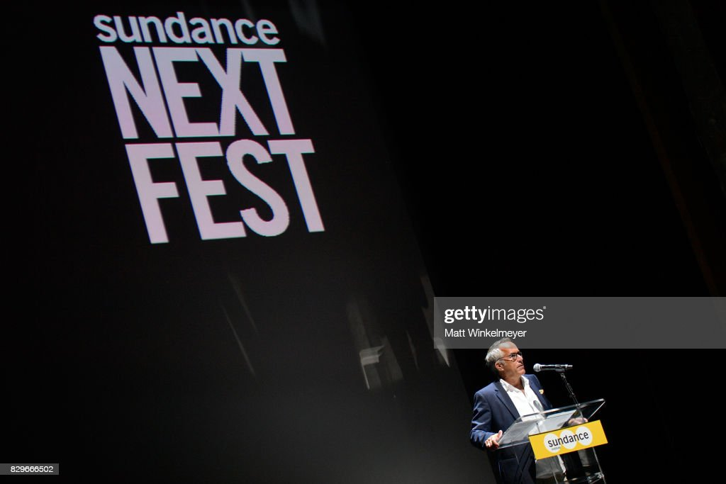John Cooper, Sundance Film Festival Director, speaks onstage at Sundance NEXT FEST After Dark at The Theater at The Ace Hotel on August 10, 2017 in Los Angeles, California.