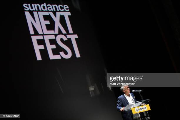 John Cooper Sundance Film Festival Director speaks onstage at Sundance NEXT FEST After Dark at The Theater at The Ace Hotel on August 10 2017 in Los...