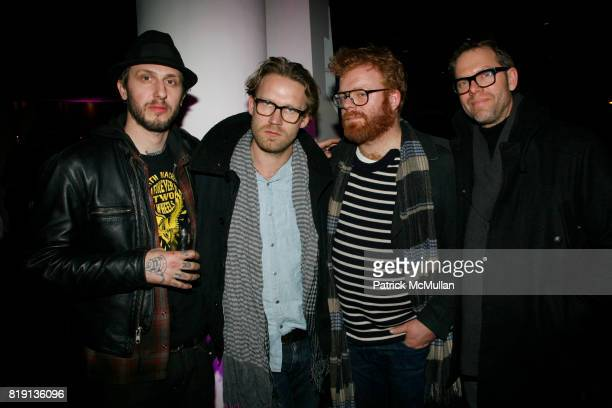 John Copeland Peter Funch Morten and Frank Rosenmejer attend MoMA hosts opening night benefit for THE ARMORY SHOW 2010 at MoMA on March 3 2010 in New...